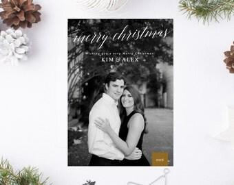 Photo Christmas Card, Merry Christmas Card, Christmas card, Christmas Photo Card, Christmas Holiday Card, Script Photo Christmas Card