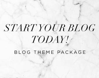 Start Your Blog Today - The blog package for all newbie bloggers who want to start today / Blogger Template + Installation + Custom Changes
