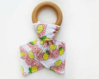 Organic teething ring - Lemon Love