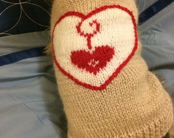 Dog Sweater with 2 Hearts-PDF Pattern