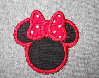 Made to order ~Small  Miss Mouse iron on or sew on applique patch