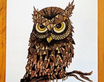 8x10 Owl Print for nursery or home
