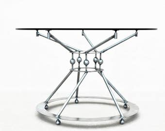 steel table base pedestal table base modern dining table dining table base - Pedestal Table Base