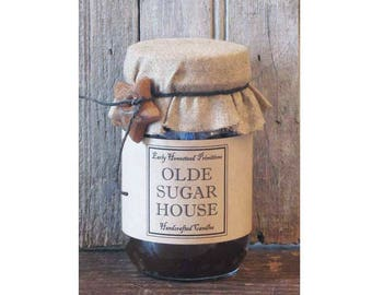 Primitive Candle, Country Candle, Rustic Candle, Olde Sugar House Scented Jar Candle