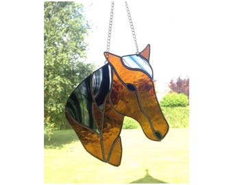 Stained Glass Horse Sun-catcher Gift Decoration