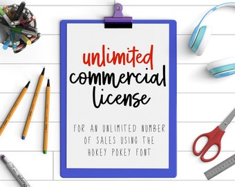 Unlimited commercial license for Hokey Pokey font - unlimited number of sales