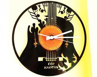 Personalized Guitar Vinyl Record Clock