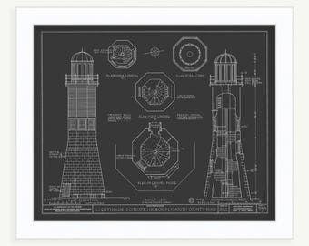 Scituate Light House 1810-Architectural Drawings