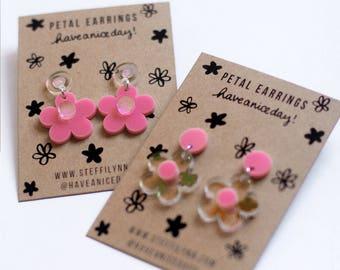 Petal - Iridescent Flower Earrings