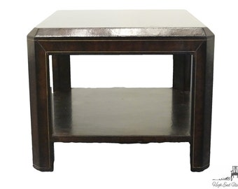 "MAITLAND SMITH Leather Clad 24"" Square End Table"