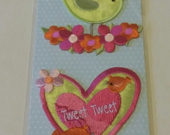 Bird and Heart Appliques