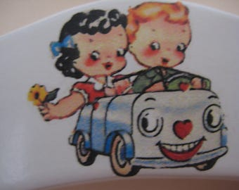 Baby hanger with toy car motif