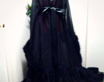 Luxury Chiffon feathered Burlesque Robe