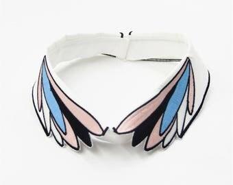 Collar Appliques Trims ,Colorful Wings Collar Applique,Fake Collar for Garment Accessories, Fake Collar Applique,Embroidery Trims
