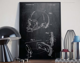 Football Helmets| College Football| Football Coach| Football Wall Print| Football Patents| College Dorm Decor| NFL| Football Mom| HPH414