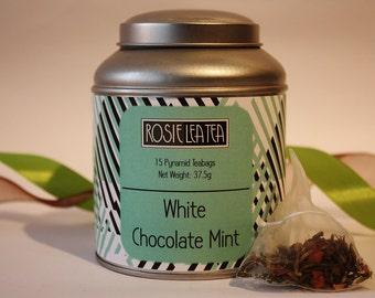 White Chocolate Mint Pyramid Teabags - Tea- Tea Gift - Chocolate Tea - Teabags