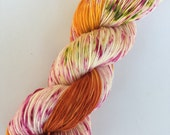 """SANDIA - hand dyed fine fingering sock weight yarn (4 oz./434 yds.) colorway """"Love Supreme"""" Valentines colorway 2017"""