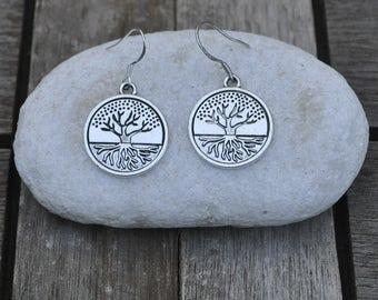 Earrings Celtic life tree