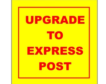 Rush order for express post from Australia.3-4  business days delivery