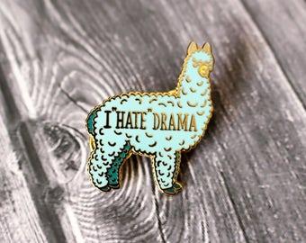 Drama Llama Hard Enamel cloisonné lapel pin