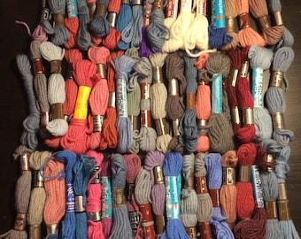 Lot of Vintage Crewel Yarn- 59 skeins