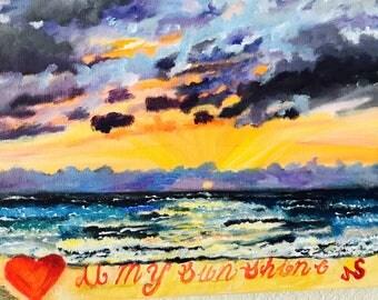 "customized painting "" sunset"""