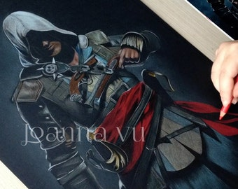 Edward Kenway Original Fine Art Colored Pencil Drawing
