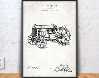 TRACTOR patent print, tractor poster, tractor print, tractor blueprint, farm decor, mechanic wall art, henry ford, farm, farmhouse, #1177