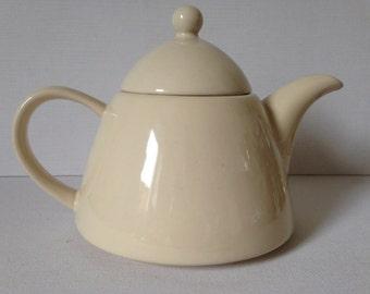 White Teapot, White Tea Pot, Modern Teapot, Retro Teapot, Tea, Ceramic Teapot, Funky Teapot, English Teapot, Afternoon Tea-Tea Gift/Tea Pot.