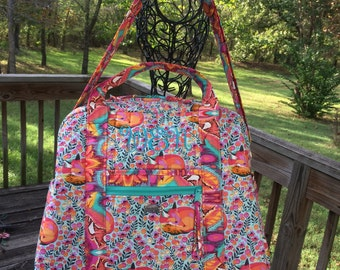 Carry ON! Travel, everything laugage bag.  Quilted, Tula Pink fabric! Free Monogram! FREE SHIPPING