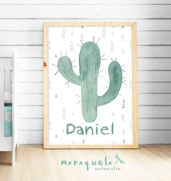 CACTUS BABY Boys and Girl with Custom name. Cactus personalizado