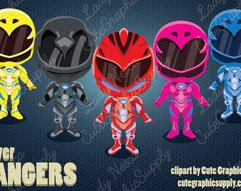 Superhero clipart, Power Rangers clipart, Rangers clipart, super hero clipart, hero clipart, heroes clipart -LN0153-