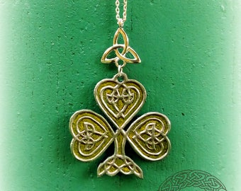 Green Leather Celtic Irish Clover