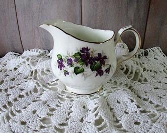 Vintage Violets Milk Jug