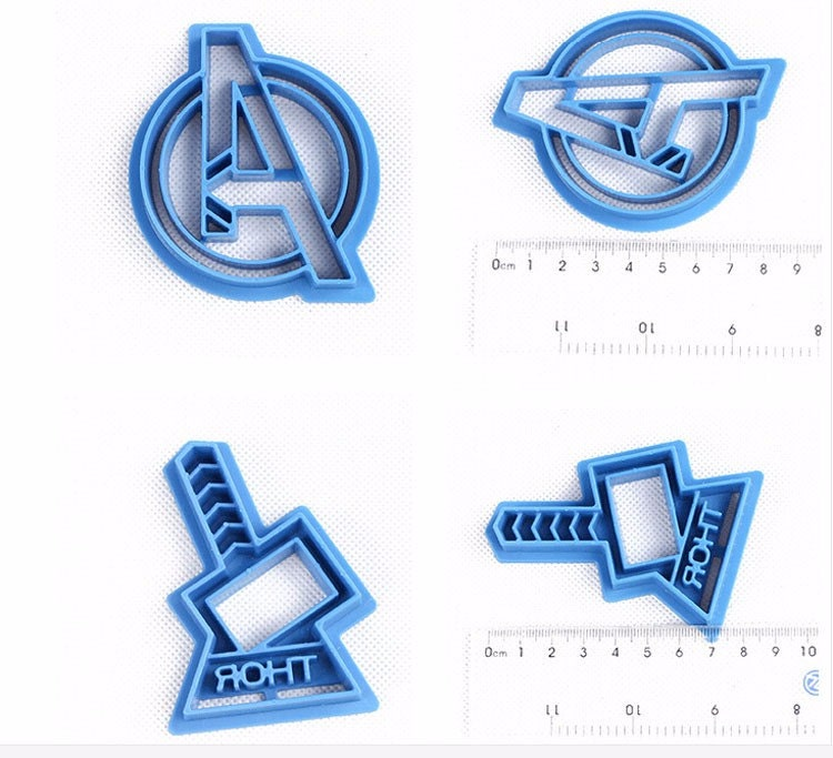 Set Of 6 Avengers Marvel Cookie Cutters Captain America
