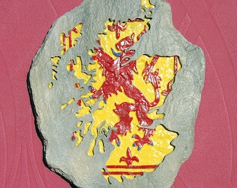 Lion Rampant Scotland Map