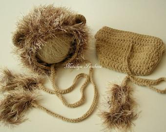 Baby Lion Hat & Diaper Cover/Disney/Baby Lion Hat/lion crochet outfit/Photo Prop/Newborn Lion Hat/Crochet Baby Hat/Diaper Cover Set/