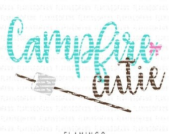 smore svg, bonfire svg, summer svg, girl svg, svg shirt, summer svg files, campfire cutie svg, campfire svg, camping svg, marshmallow svg