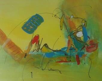 Abstract art Kandinsky style 30 x 40