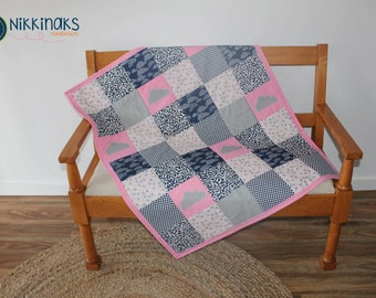 Cloudy Day Cot Quilt