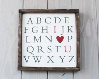 Rustic Decor - love sign - home decor - wedding decor - nursery sign - wedding gift - anniversary gift - wood sign - farmhouse decor