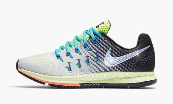 online retailer 0dee7 4fc3e 85%OFF New Bling Nike Air Zoom Pegasus 33 Custom by ...