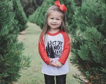 Kids Christmas Shirt // Baby / Toddler Tree Farm Tee // Just Say No to Fake Trees // Baby Christmas Outfit // Christmas Photo Shoot