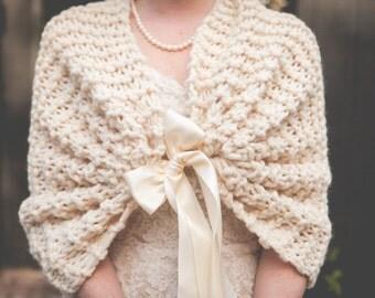 Bridesmaid Accessory/Wedding Shrug/Bridesmaid Shawl/Bridal Shawl/Bridal Cape/Bridesmaid Gift/Bridesmaid Wrap/Bridesmaid Wrap/Winter Wedding