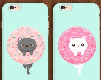 Donut Cat, Cat iPhone Case ,Donut iPhone Case, iPhone 6 case, iPhone 6s Case, iPhone 6 Plus Case, iPhone 7 Case, Donut Case, Cat Case, S6
