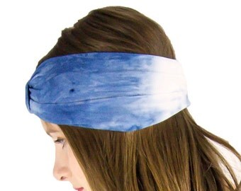 Bamboo Yoga Headband, Turban Style Yoga Headband, Black Bamboo Headband, Organic Yoga Headband, Black Tie Dye Headband, Ombre Grey Headband