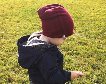 Slouchy Baby Beanie, Cranberry Beanie, cranberry beanie, slouchy knit hat, slouchy baby hat