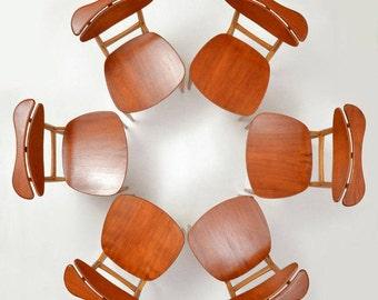 Finn Juhl for Bovirke  BO62 Chairs Six 6 Teak Oak Mid Century Modern Denmark Danish Reading Armrest