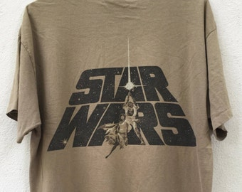 Rare!!vintage 90s star wars shirt nice design size L