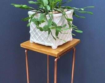 Copper Pipe Plant Stand, Retro,